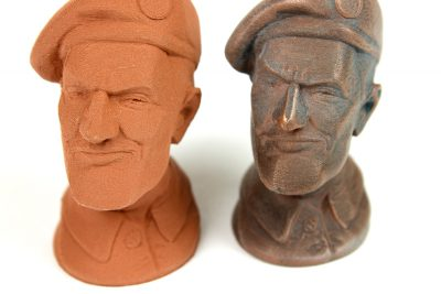 The ColorFabb CopperFill can be sanded and polished for a real copper finish